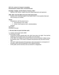 HIST 215 Lecture Notes - Lecture 21: Social Dumping, Ostalgie, League Of Communists Of Yugoslavia