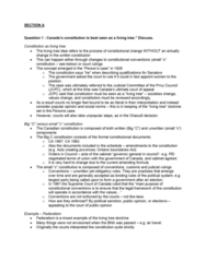 POL214Y1 Study Guide - Midterm Guide: Single Transferable Vote, Constitution Act, 1867, Asymmetric Federalism