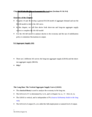 MGEB06H3 Lecture Notes - Lecture 9: Aggregate Supply, Classical Dichotomy, Aggregate Demand