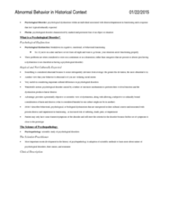 PSYC 3140 Chapter Notes - Chapter 1-4: Phlegm, Etiology, Catecholamine