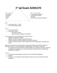 ADM 1370 Final: Final Exam ADM1370.docx
