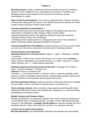 COMMERCE 2MA3 Chapter Notes - Chapter 14: Marketing Channel, Consumer Direct, Direct Marketing