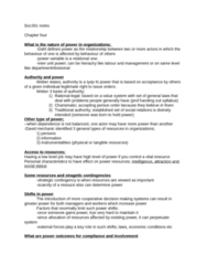 SOC361H5 Chapter Notes - Chapter 4: Traditional Authority, Decision-Making, Organizational Conflict