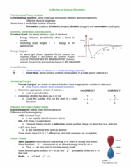 CHEM 2OA3 Chapter Notes - Chapter 1: Valence Bond Theory, Pauli Exclusion Principle, Infrared Spectroscopy
