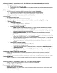 PSYC 217 Study Guide - Midterm Guide: Falsifiability, Measuring Instrument, Public Knowledge