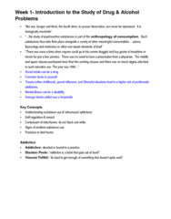 HLTH 237 Lecture Notes - Lecture 1: Centre For Addiction And Mental Health, Naltrexone, Caffeine