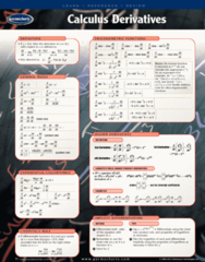 Calculus Derivatives - Reference Guides