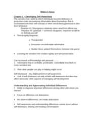 HROB 3100 Study Guide - Midterm Guide: Outlast, Extraversion And Introversion, Time Management