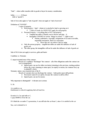 BUSI 393 Lecture Notes - Lecture 6: Implied Warranty, Used Car, Rescission