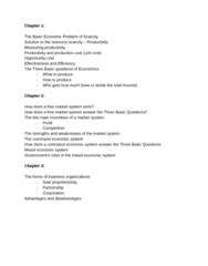 ECON15269G-CO4 Chapter Notes - Chapter 1-3: Opportunity Cost, Sole Proprietorship