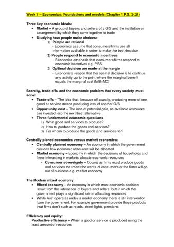 Global Economics Notes Mae102 Oneclass