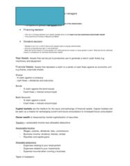 Fundamentals of Finance Notes MAF101