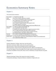 MAE101 Summary Notes