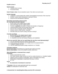 PSY384H5 Lecture Notes - Lecture 2: International Phonetic Alphabet, Vocal Tract, Vocal Folds
