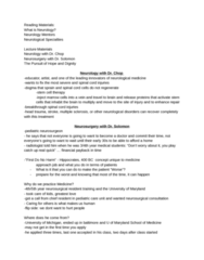 MDU 4003 Lecture Notes - Lecture 10: Multiple Sclerosis, Neurosurgery, Pediatrics