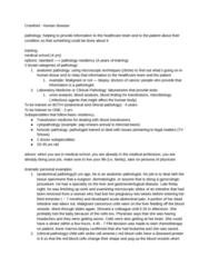 MDU 4003 Lecture Notes - Lecture 6: Bone Marrow Examination, Anatomical Pathology, Transfusion Medicine