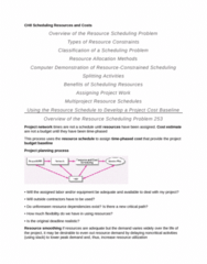 BUSI 3309 Chapter Notes - Chapter 8: Project Network, Project Management Software, Cost Estimate