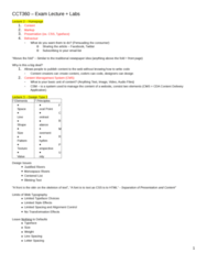 CCT360H5 Study Guide - Final Guide: Website Wireframe, Xhtml, Web Typography