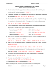 GEOG 111 Final: Lab 1 with Answers