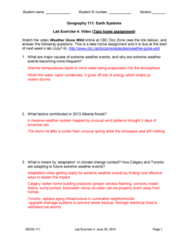 GEOG 111 Study Guide - Final Guide: 2013 Alberta Floods, Doc Zone