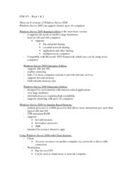ITM 315 Lecture Notes - Lecture 2: Itanium, Database Server, Print Server