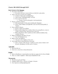 CLSX 148 Lecture Notes - Lecture 1: Abzu, Theogony, Kumarbi