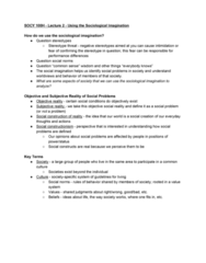 SOCY 100 Lecture Notes - Lecture 2: Stereotype Threat, Social Constructionism