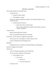 ISCI 1001 Lecture Notes - Lecture 3: Scientific Literature, Scientific Method, Hydrogen Atom
