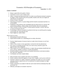 Economics 1021A/B Lecture Notes - Lecture 2: Opportunity Cost, Human Capital, Ceteris Paribus