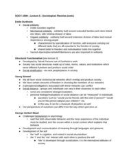 SOCY 100 Lecture Notes - Lecture 5: Talcott Parsons, Shared Belief, Impression Management
