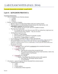 BIOL 2030 Study Guide - Final Guide: Amoeboid Movement, Euglena, Ciliate