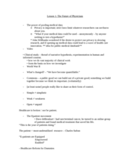 MDU 4003 Lecture Notes - Lecture 1: Patient Protection And Affordable Care Act, Safran, Primary Care Physician