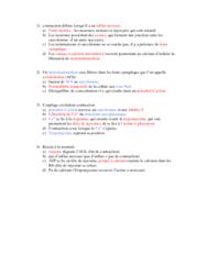 APA 1561 Lecture 1: contraction débute lorsqu'il a un influx nerveux