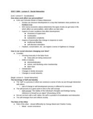 SOCY 100 Lecture Notes - Lecture 9: Deindustrialization, Fatalism, Impression Management