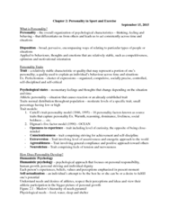 95-211 Lecture Notes - Lecture 2: 16Pf Questionnaire, Models 1, Conscientiousness