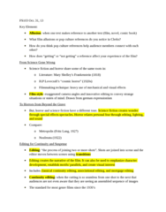 FS103 Lecture Notes - Lecture 7: 180-Degree Rule, Jump Cut, Independent Film