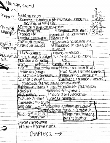 CHE 1301 Midterm: HODSON 1301 EXAM 1 CHAPTERS 1-3 STUDY