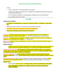 SOCPSY 1Z03 Study Guide - Final Guide: Fritz Heider, Cognitive Dissonance, Leon Festinger