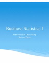 STAT 2606 Lecture Notes - Lecture 7: Standard Deviation, Quartile, Summary Statistics