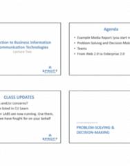 BUSI 1402 Lecture Notes - Lecture 1: Web 2.0, Decision-Making, Social Web