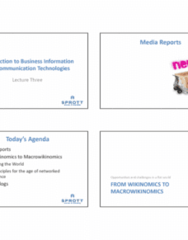 BUSI 1402 Lecture Notes - Lecture 4: Wikinomics, Digital Rights Management, Business Intelligence