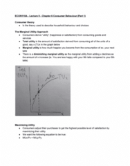 ECON 110 Lecture Notes - Lecture 9: Opportunity Cost, Indifference Curve, Budget Constraint