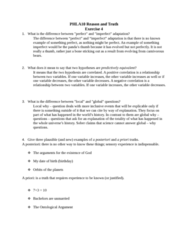PHLA10H3 Study Guide - Midterm Guide: Ontological Argument, Reductio Ad Absurdum, Empirical Evidence