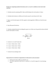 CHEM 110 Lecture Notes - Lecture 6: Squared Deviations From The Mean, Standard Deviation