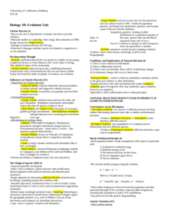 BIOLOGY 1B Study Guide - Midterm Guide: Georges-Louis Leclerc, Comte De Buffon, Erasmus Darwin, Gregor Mendel