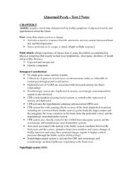 PSYC 3140 Midterm: Abnormal Psychology Test 2 Notes