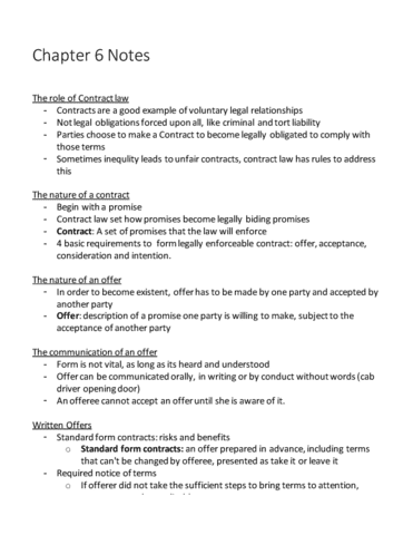 Bu 231 Midterm Complete Chapter 6 Notes 14th Edition Oneclass