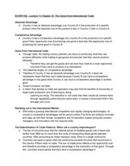 ECON 110 Lecture Notes - Lecture 11: Absolute Advantage, Comparative Advantage, Opportunity Cost