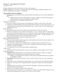 Business Administration 3301K Chapter Notes - Chapter 8,9,10,11,12,13,14,15: Cutlet, Fixed Cost