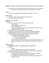 ECON 110 Lecture Notes - Lecture 12: Marginal Product, Retained Earnings, Production Function